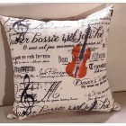 RubeyLiza Violin Cushion 45x45cm