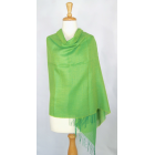 Alpaca/Silk Blended Shawl - Lime Green