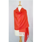 Alpaca/Silk Blended Shawl - Orange-Pink