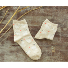Cream Cotton Blend Alpaca Image Socks