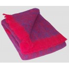 Australian Brushed Alpaca Knee Rug - Purple-Ruby Marled