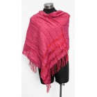 Alpaca/Silk Laurel Shawl - Hot Pink