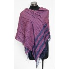 Alpaca/Silk Laurel Shawl - Purple