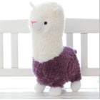 Cuddly Plush  Alpaca -  Annie - Purple Alpaca