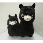 """The Sootman"" - The Black Alpaca - Height 35 cm"