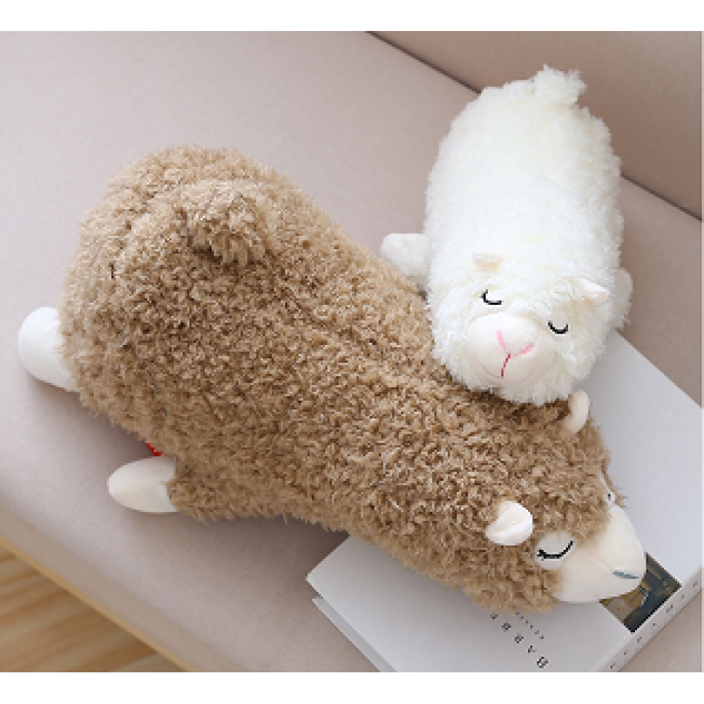 Sleeping Alpaca -  White or Medium Fawn