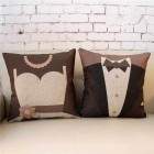 RubeyLiza Special Occasions - Wedding - Bride & Groom Cushions 45x45cm