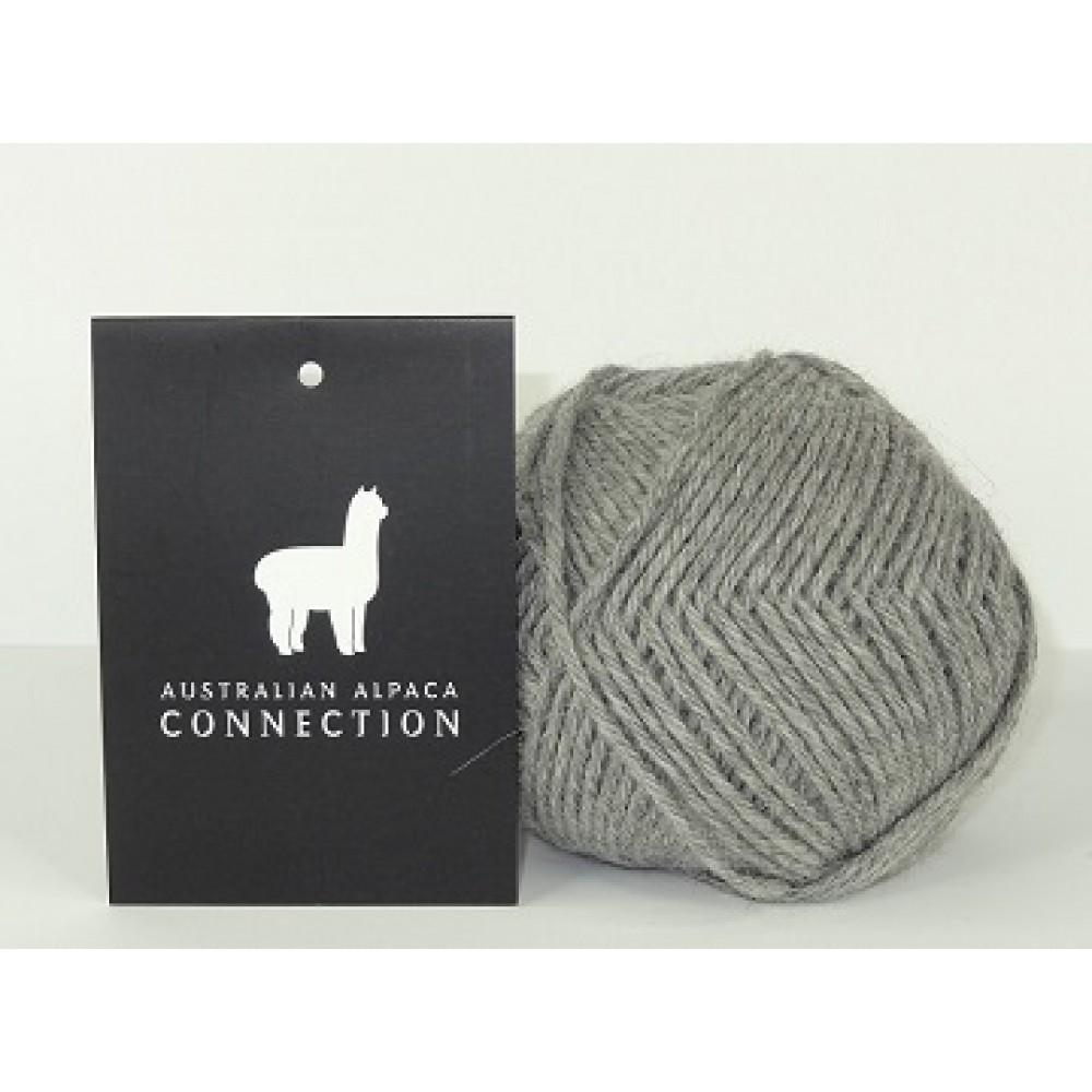 100% Baby Alpaca Yarn - Light Grey - Pack of 10