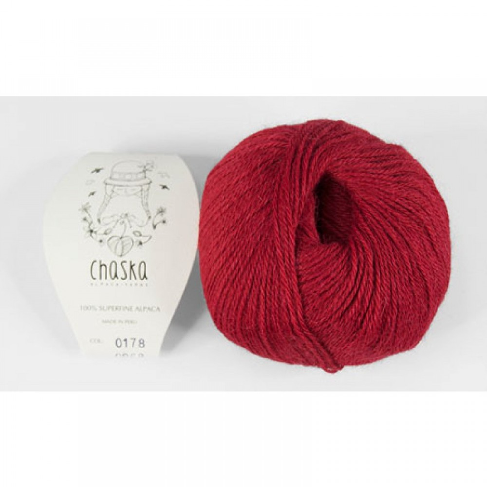 "100% Superfine Alpaca ""Chaska Red "" 4 ply"